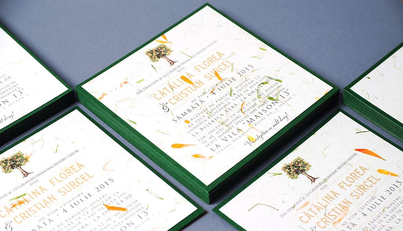 petale de flori galbene, invitaitii nunta deosebite