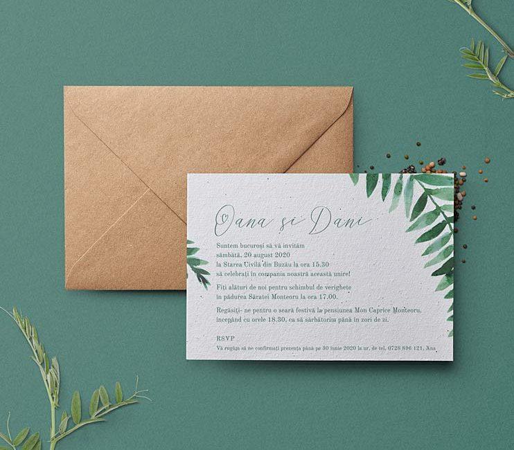 plantable invitation, hartie manuala plantabila, invitatie de nunta, invitatii nunta