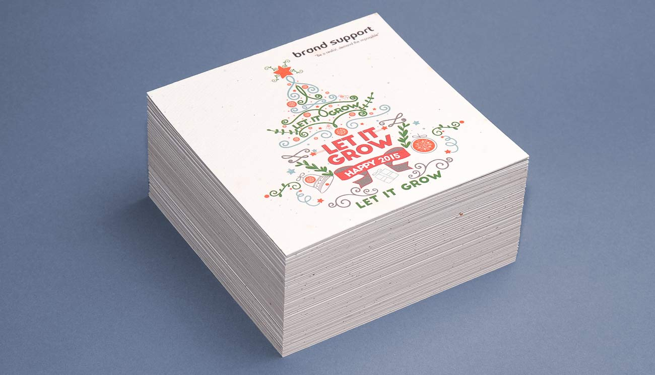Plantable Holiday Cards, holiday plantable card eco friendly gift