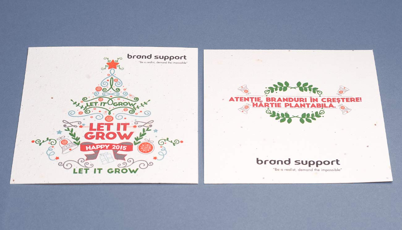 Holiday Cards, Seed paper