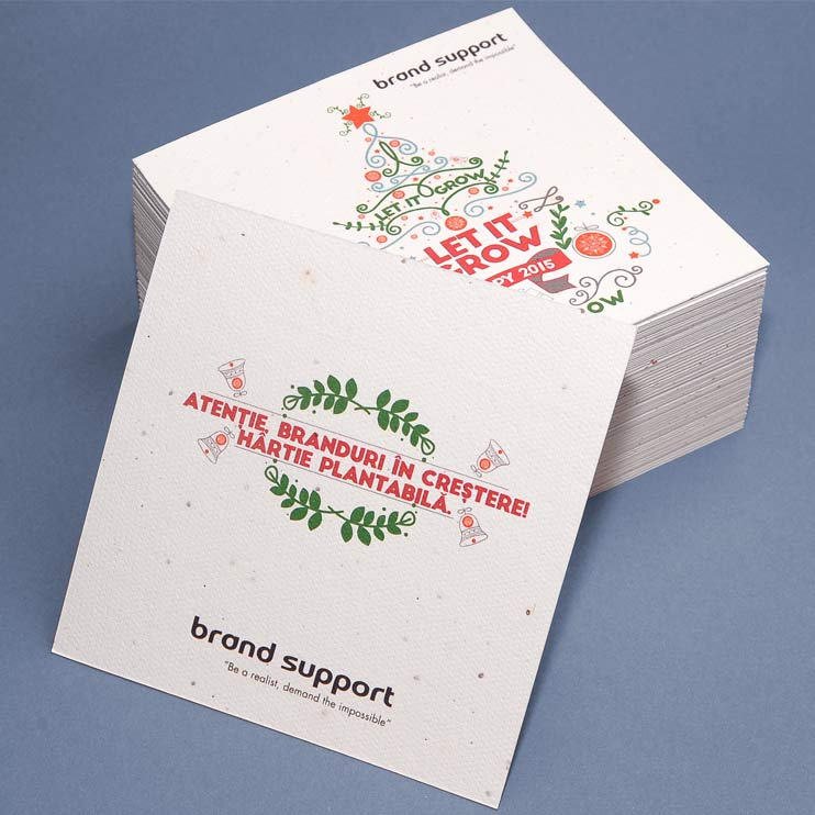 Holiday Card, plantable paper, handmade paper
