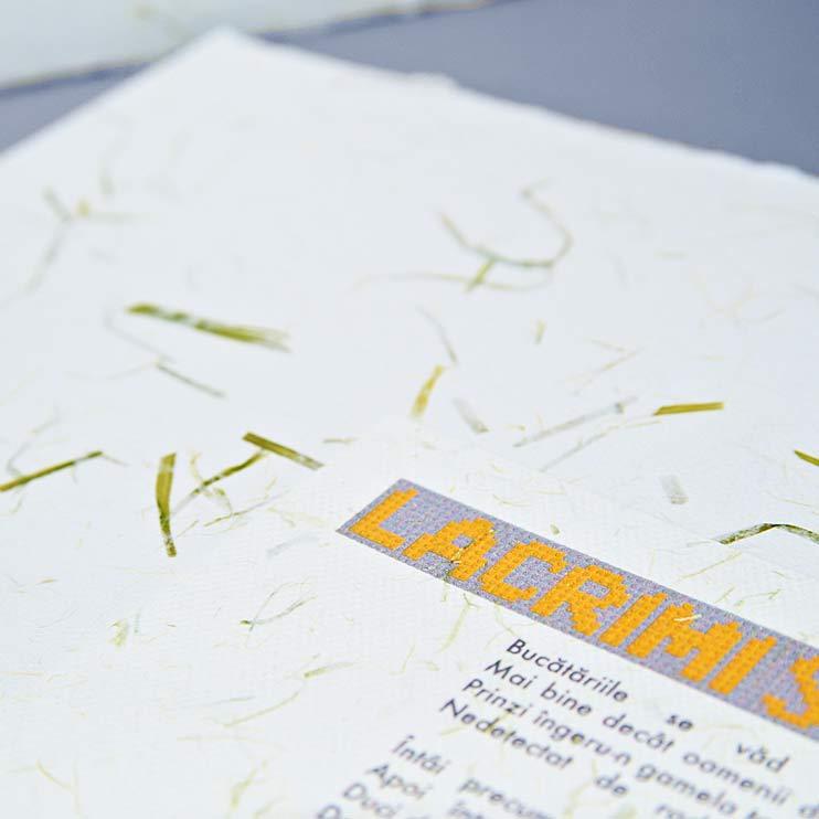 handmade paper menu, Handmade paper, hartie manuala, hartie plantabila